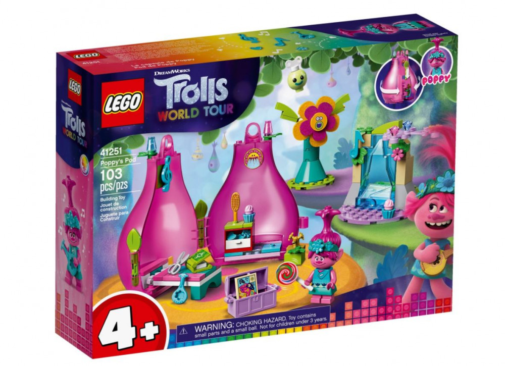 LEGO® Trolls World Tour Pipacs kabinja 41251